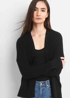 Gap Open-Front Textured Knit Cardigan Sweater