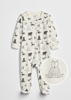 Gap Organic Critter Footed One-Piece
