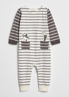 Gap Organic Stripe Graphic One-Piece