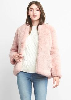 Oversize faux-fur jacket