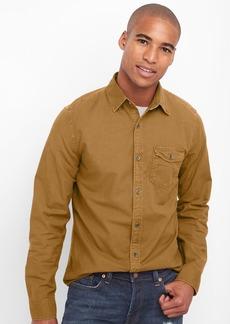 Gap Oxford garment-dye slim fit shirt