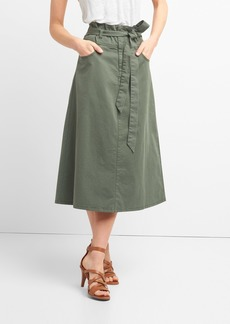 Gap Paperbag Waist Utility Midi Skirt with Tie-Belt