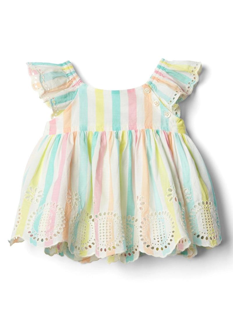 86ba459d501a Gap Pastel stripe eyelet flutter top | Body Suits