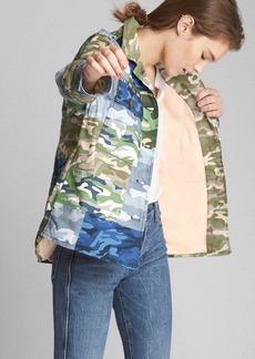 Patch Camo Print Utility Jacket