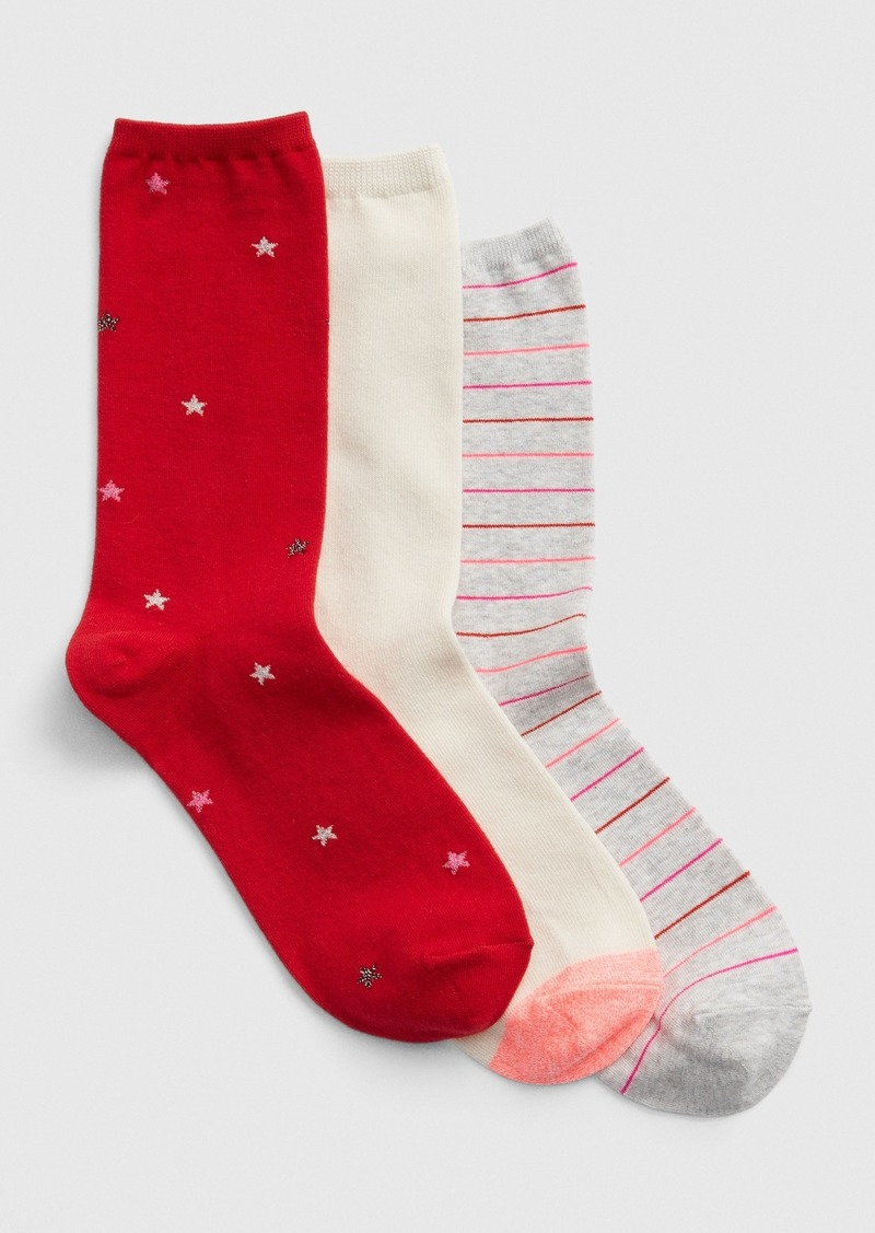 Gap Pattern Crew Socks (3-Pack)