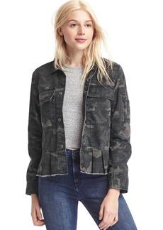 Peplum utility jacket