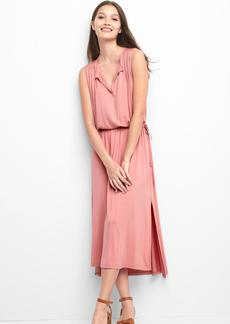 Pintuck step-hem dress