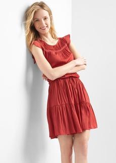 Pintuck tier dress