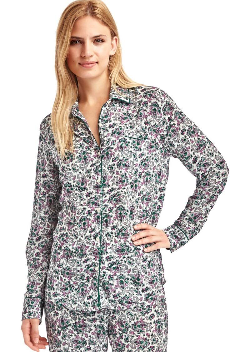 On Sale today! Gap Piping long sleeve sleep shirt a95ca1722