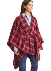 Gap Plaid blanket cape