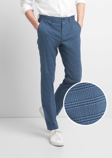Plaid Clean Khakis in Slim Fit with GapFlex