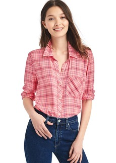 Gap Plaid drapey shirt
