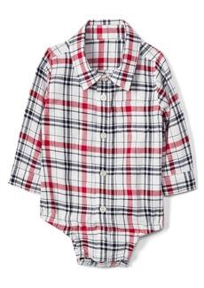 Gap Plaid Flannel Button-Up Bodysuit