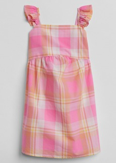 Gap Plaid Flutter Dress