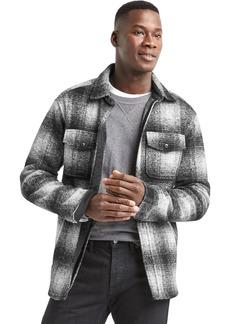 Gap Plaid jacquard utility shirt jacket