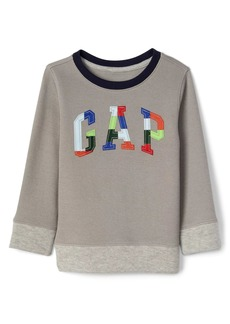 Gap Plaid logo ribbed pullover