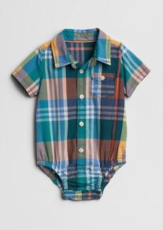 Gap Plaid Short Sleeve Bodysuit