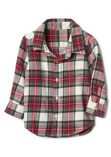 Gap Plaid twill long sleeve shirt