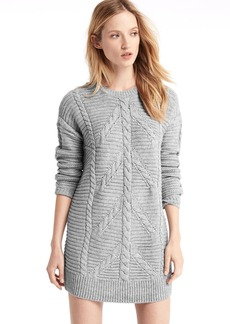 Plait cable knit sweater dress