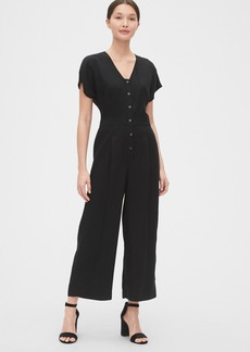 Gap Pleated Button-Front Jumpsuit in TENCEL&#153