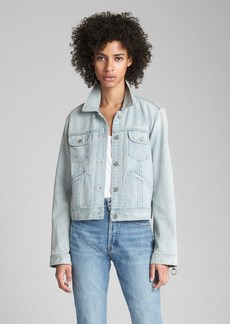 Gap Pleated Denim Jacket with Ring-Pull Details