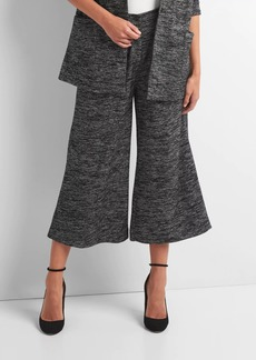 Pleated marled knit pants