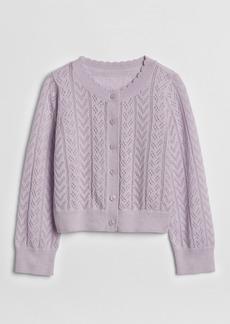 Gap Pointelle Cardigan Sweater