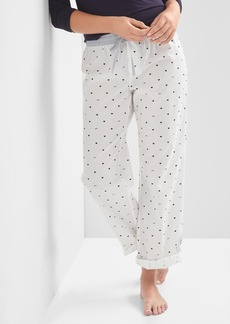 Gap Poplin roll sleep pants