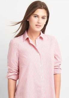 Gap Poplin stripe wrap-button shirt