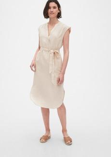 Gap Popover Cap Sleeve Shirtdress in Linen-Cotton
