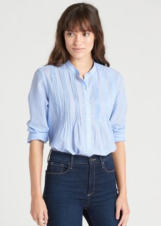 Gap Popover Pintuck Shirt in End-on-End Cotton