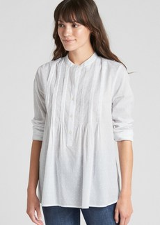 Gap Popover Pintuck Shirt in Swiss Dot