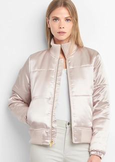 Gap PrimaLoft&#174 satin bomber jacket