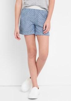 Gap Print Chambray Shorts