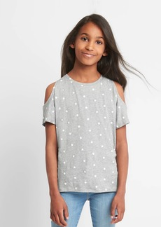 Gap Print Cold-Shoulder Top