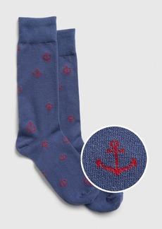Gap Print Crew Socks