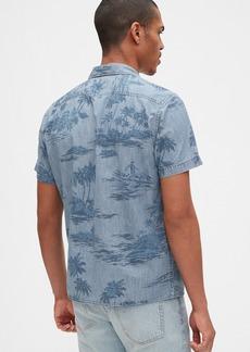 Gap Print Denim Shirt