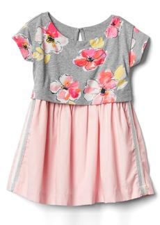 Gap Print double-layer dress