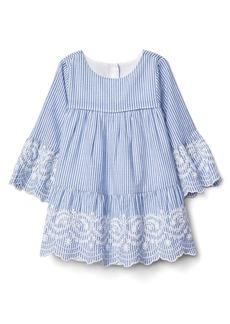 Gap Print embroidery bell dress