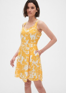 Gap Print Fit and Flare Cami Dress