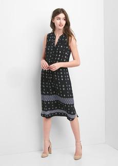 Gap Print fit and flare midi dress