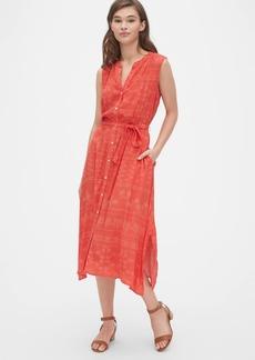 Gap Print Handkerchief Shirtdress