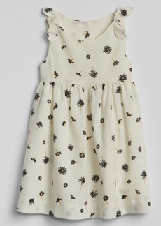 Gap Print Knot-Tie Dress