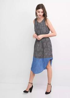 Print midi tank dress