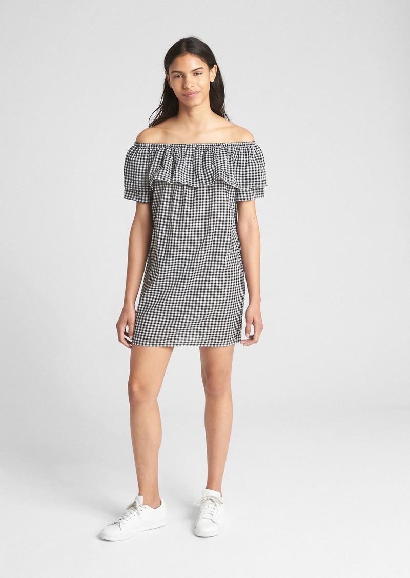 8f1e14fd76ae1 On Sale today! Gap Print Off-Shoulder Ruffle Cover-Up