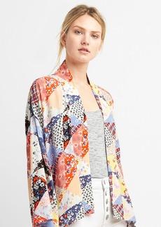 Print Patchwork Kimono Jacket