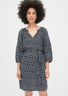 Gap Print Peasant Sleeve Smock Dress