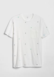 Gap Print Pocket T-Shirt