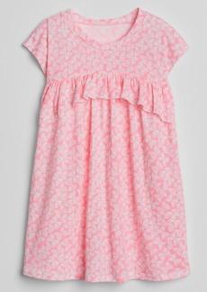 Gap Print Ruffle T-Shirt Dress