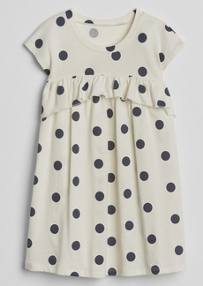 Gap Print Ruffle T-Shirt Dress